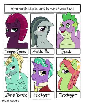 [Meme] #SixFanarts Pony Edition
