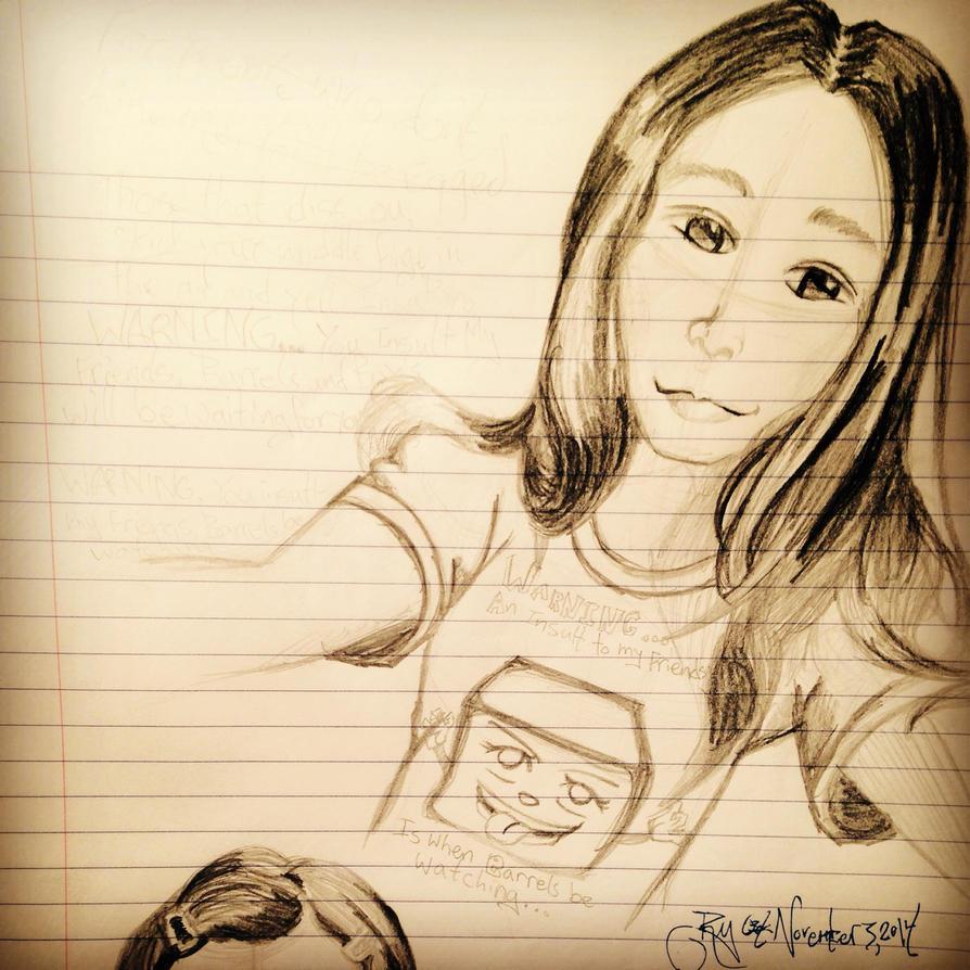 Self portrait by ForeverAnimeFangirl