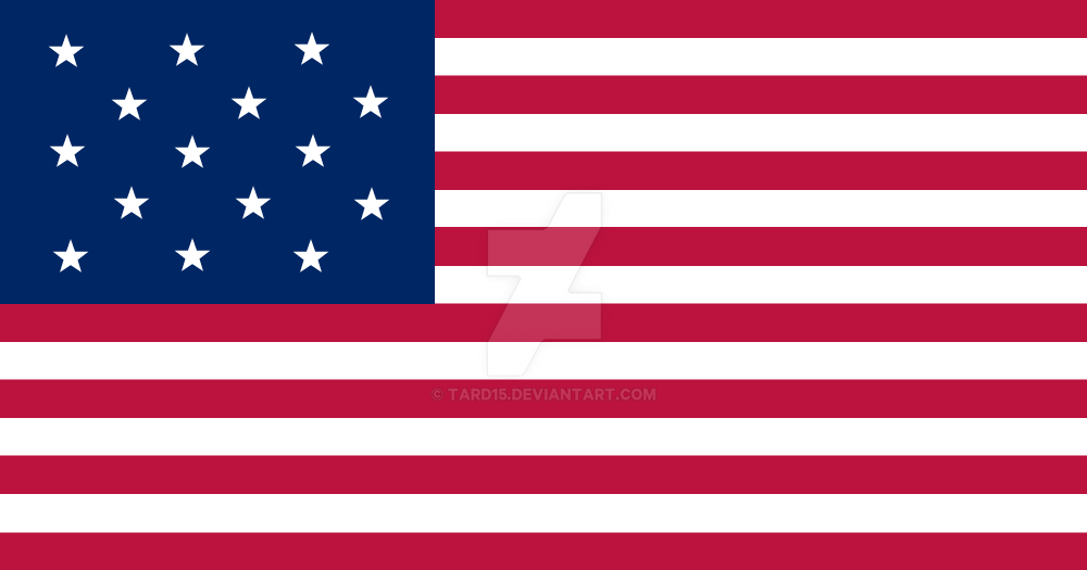 Palimpsest 15 States US flag by tard15