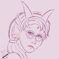 Commission   Headshot Sketch by Geo-Space