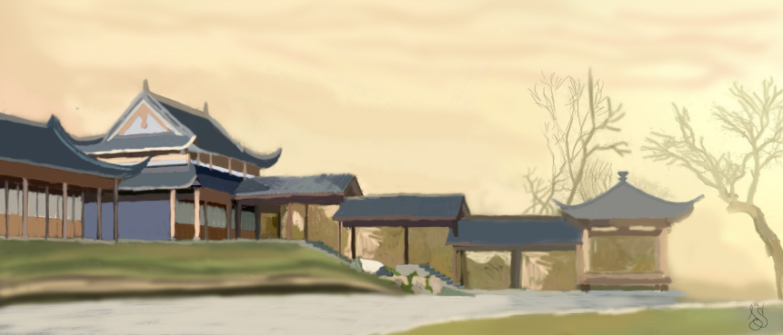 Drawing of a Japanese family house by JurjenSleebos