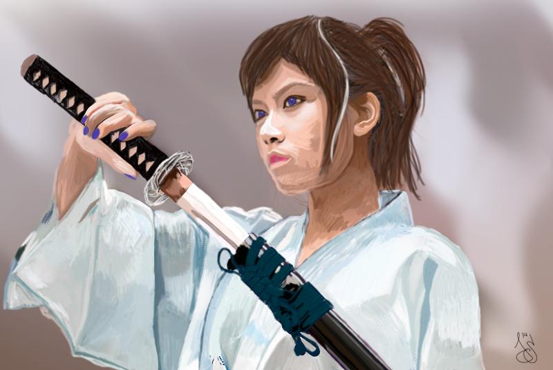 La Femme Samurai by JurjenSleebos
