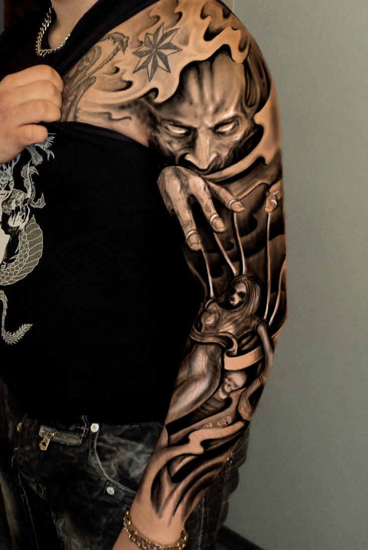Full sleeve dark by 666afx