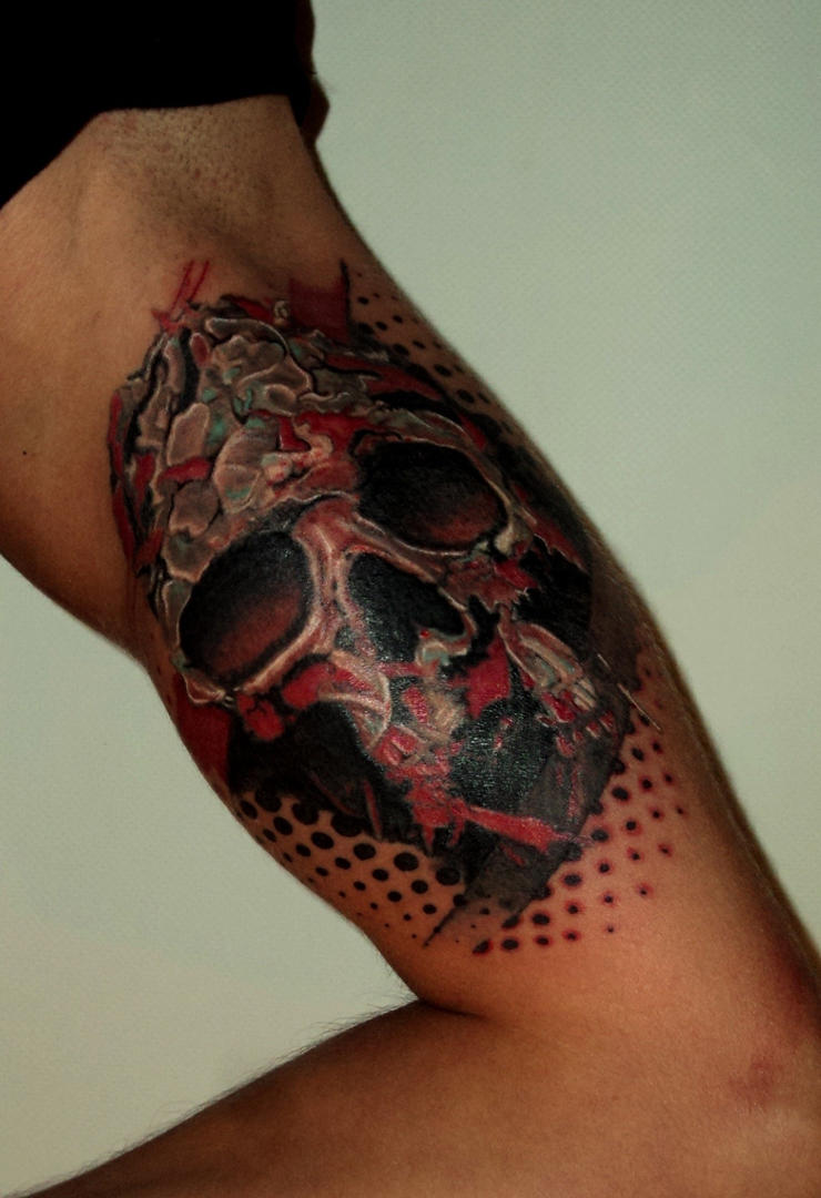 Evil pirate skull tattoo - photo#28