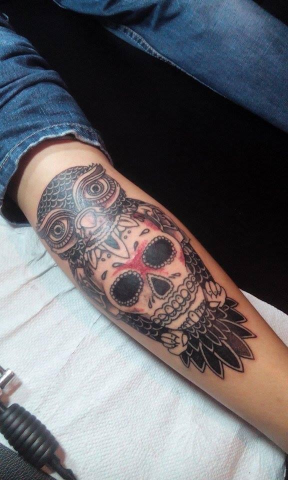 owlskull by 666afx