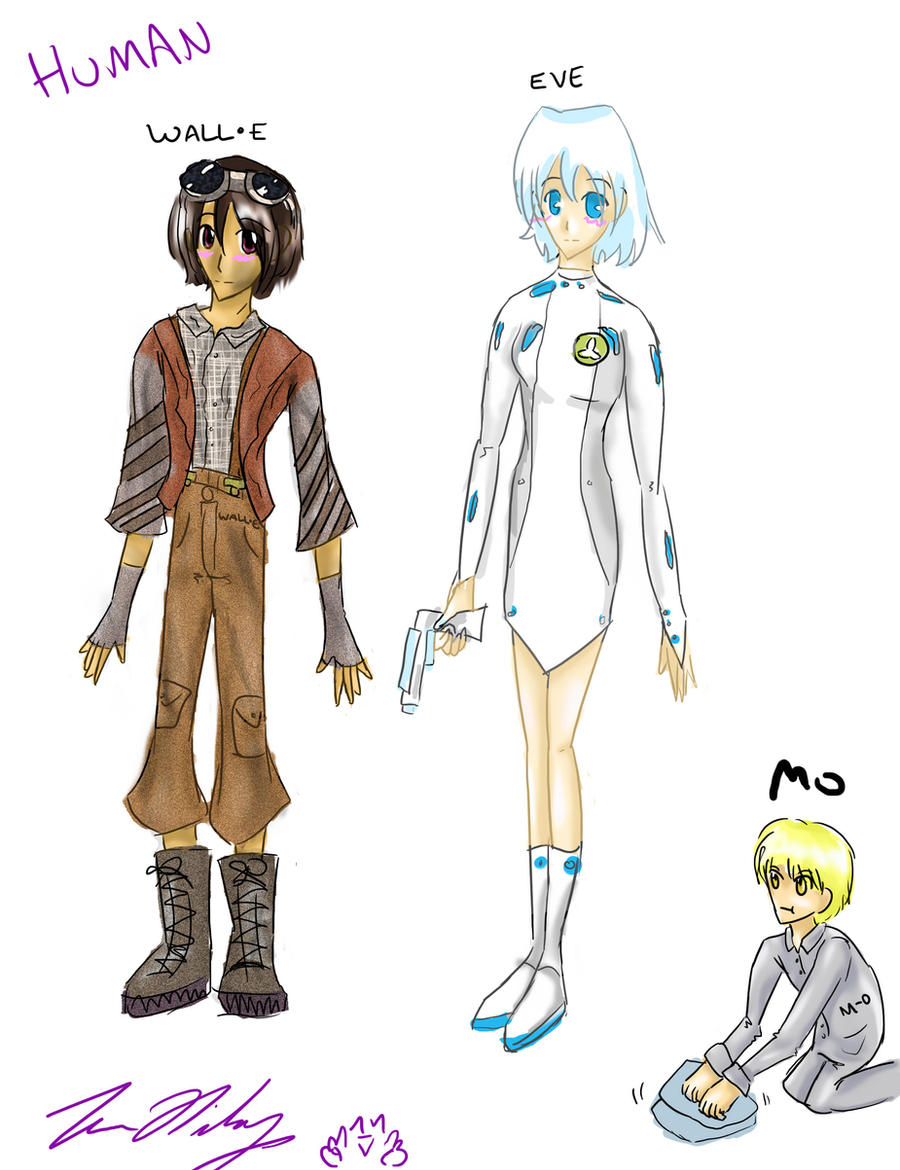 WALLE characters humanified by TheReza13
