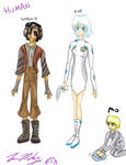 WALLE characters humanified