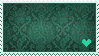 Teal Love Stamp by faror1