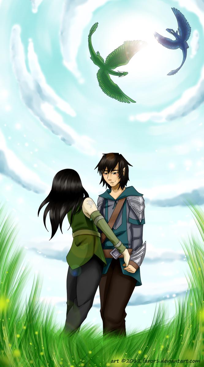 Eragon and Arya by faror1