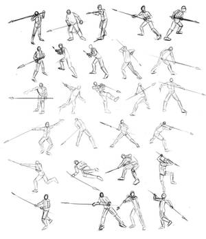 Game of Thrones Spear Poses
