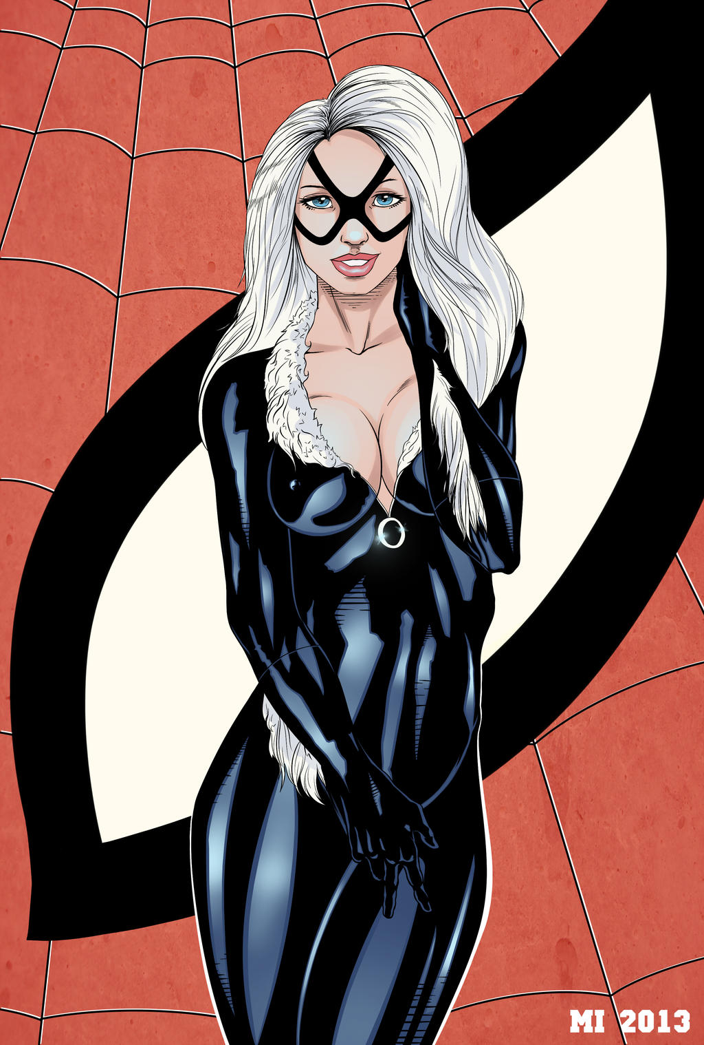 All art black cat fan nude what