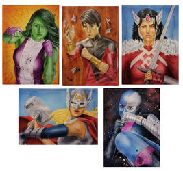 Guardians of the Galaxy Vol.2 sketch cards4 by shelbysnake