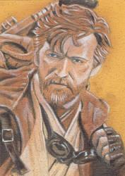 Obi Wan Kenobi sketch card by shelbysnake