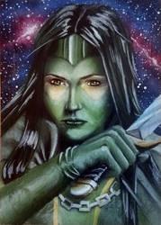 Guardians of the Galaxy Vol.2 Gamora AP by shelbysnake