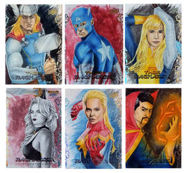 Thor Ragnarok sketch cards 1-6 by shelbysnake