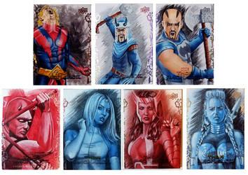 Thor Ragnarok sketch cards 7-13 by shelbysnake