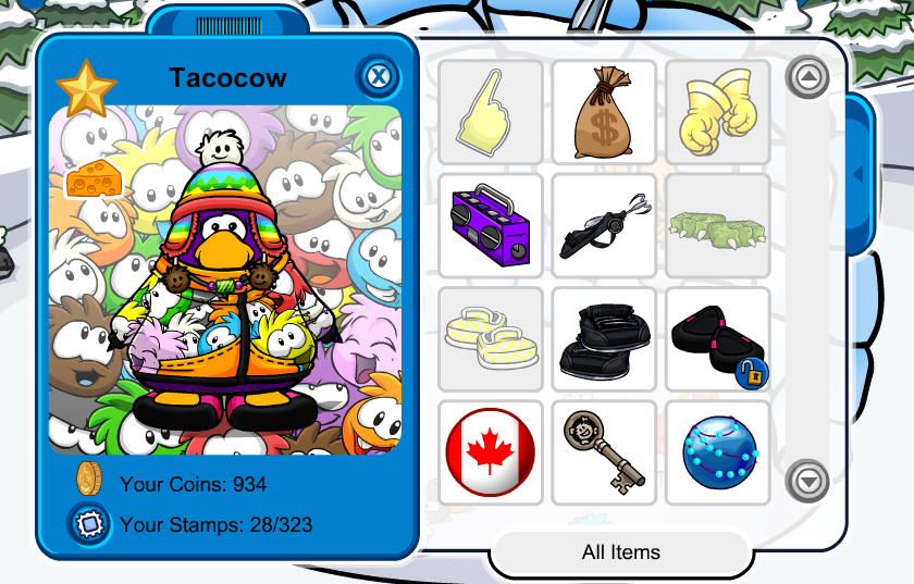 Me on club penguin by 0froggydog0