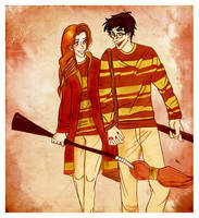 before quidditch practice by laugiancoli
