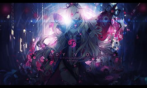 Yukari Yakumo : Lady Violet by Yuda23