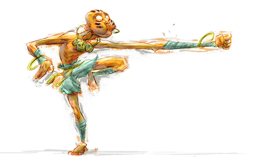 Dhalsim attacks by jesseaclin
