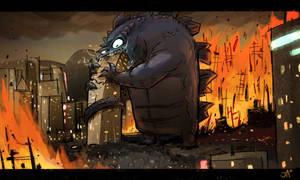 Godzilla Reimaged by jesseaclin