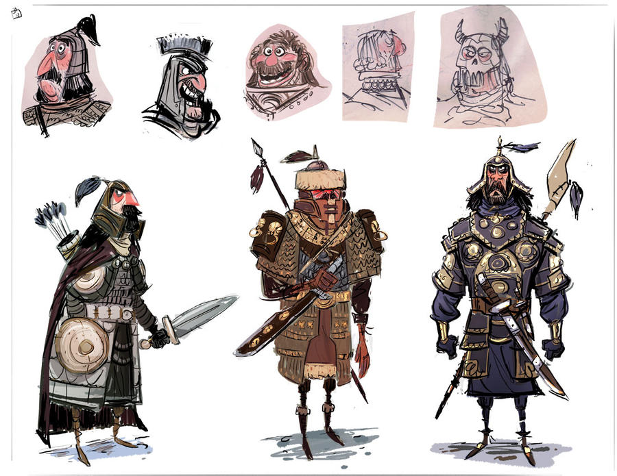 Best Character Design Artist : Warrior designs by jesseaclin on deviantart