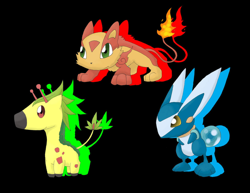 New Fakemon Starters: Volcub, Floraffe and Rabble by ...