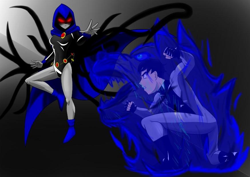 Raven vs Wiccan (Request) by Razgriz23