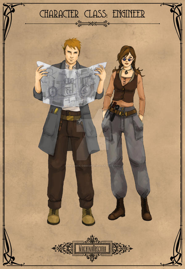 Character Design Class : Character class engineer by machina obscura on deviantart