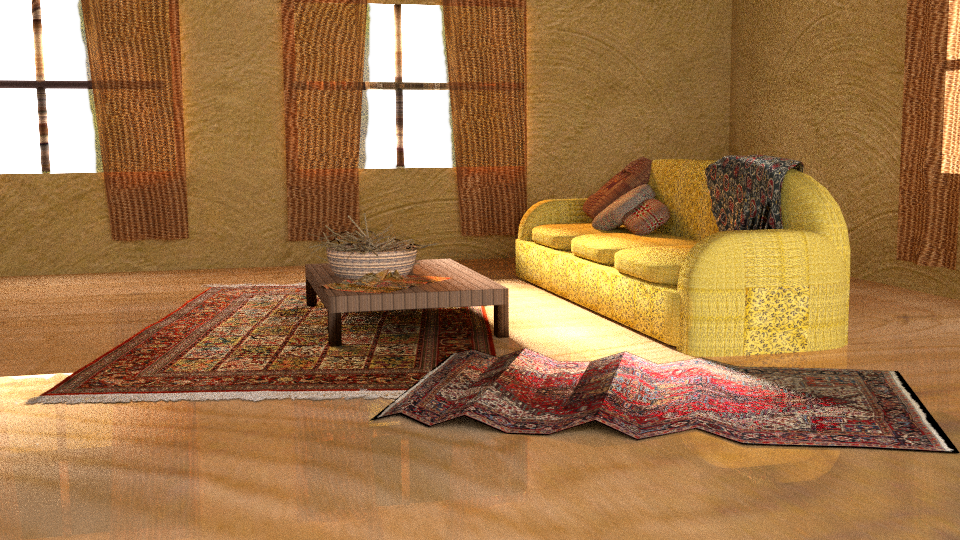 3D House Interior by auronstalker