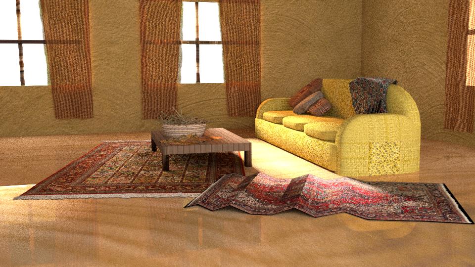 3D House Interior by auronstalker
