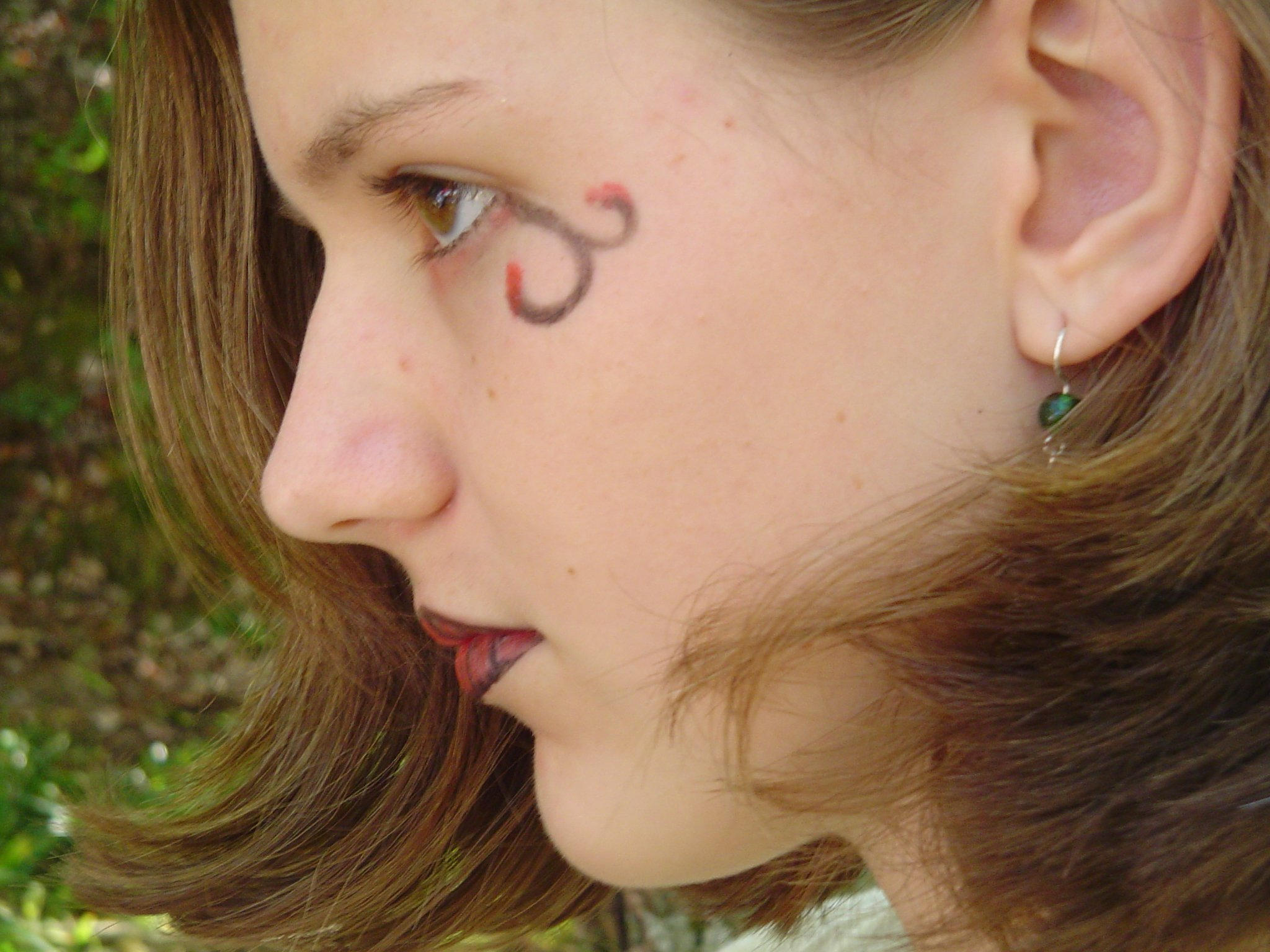 profile aka fun with eyeliner by LuckyStock