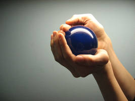 blue ball by LuckyStock