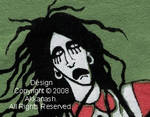 Twiggy Ramirez t-shirt detail