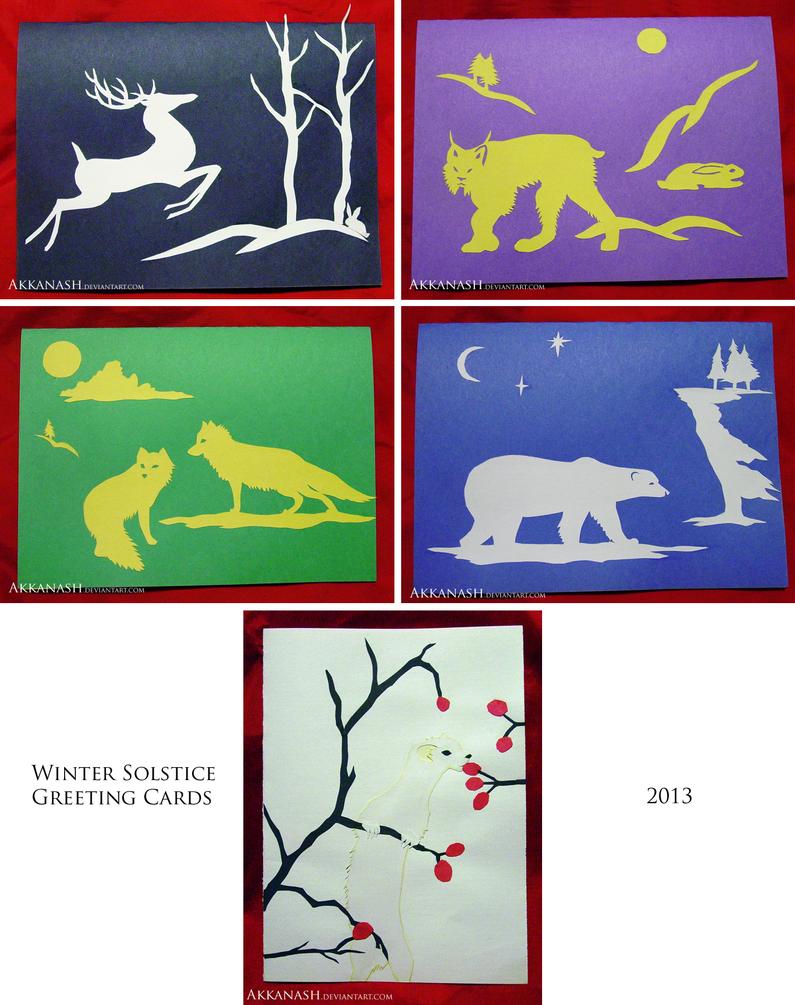 Winter Solstice Greeting Cards By Akkanash On Deviantart