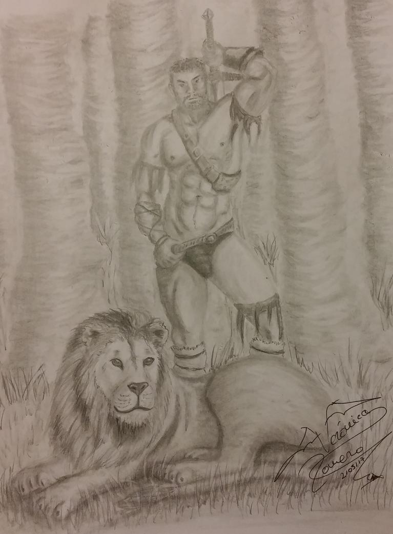 Gladiador y Leon by VeronicaRomero