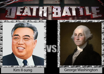 Kim Il-sung vs. George Washington by Brassboy212