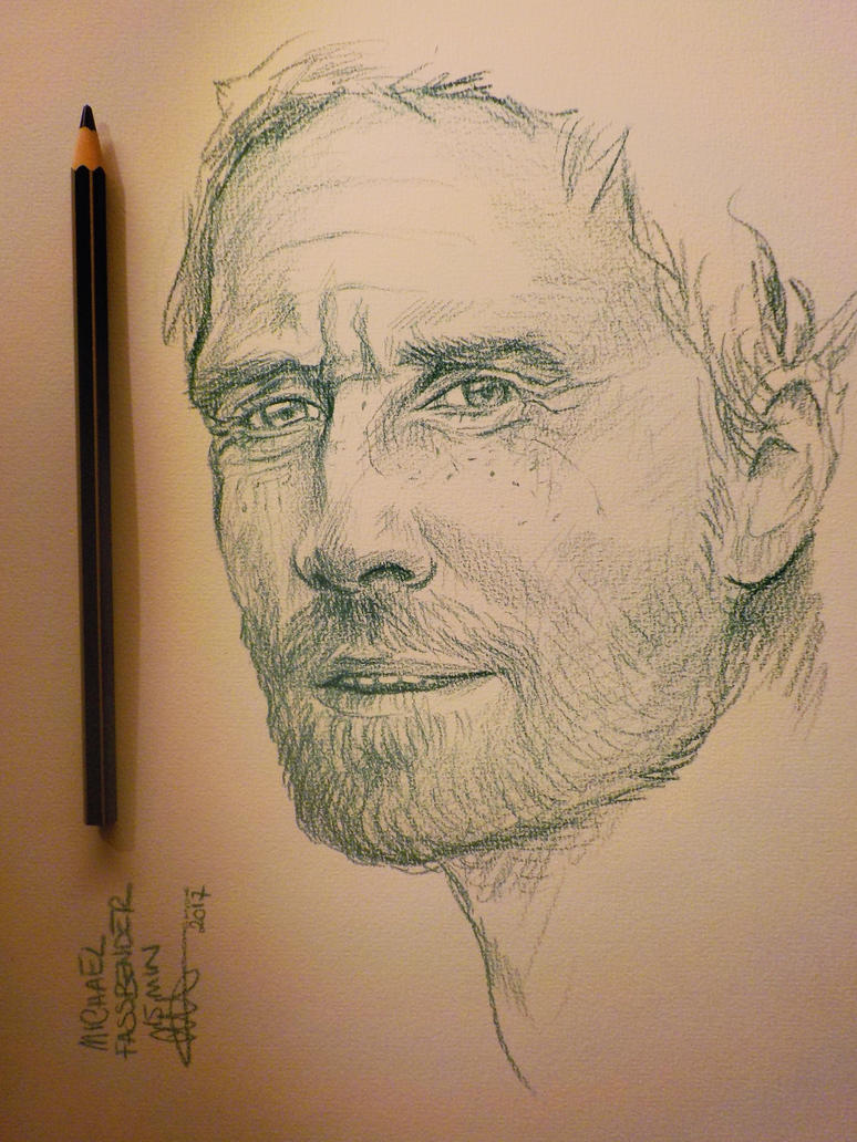 sketch / Michael fassbender by CamillE898