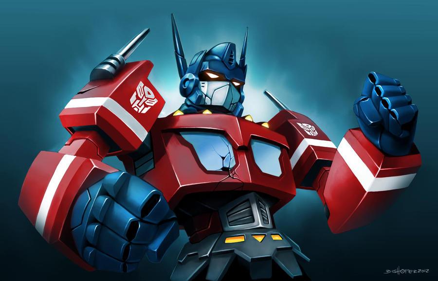 optimus prime tribute by bishoper
