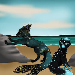 Island sparkles by SilentFox-6
