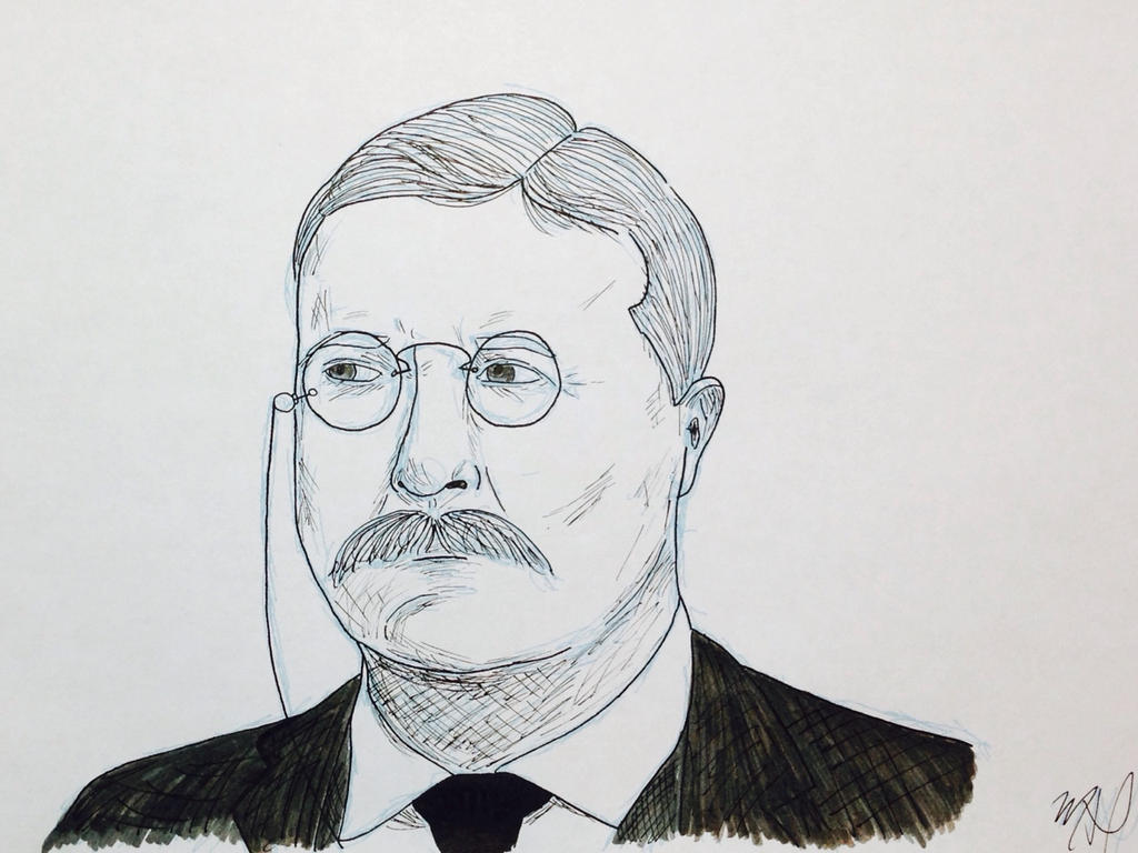 Teddy Roosevelt Inked by 416bunny