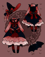 Custom Outfit - Goth Witch by kuroeko-adopts