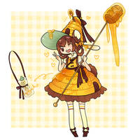 Honey Bear Wish Drop Adopt - CLOSED by kuroeko-adopts