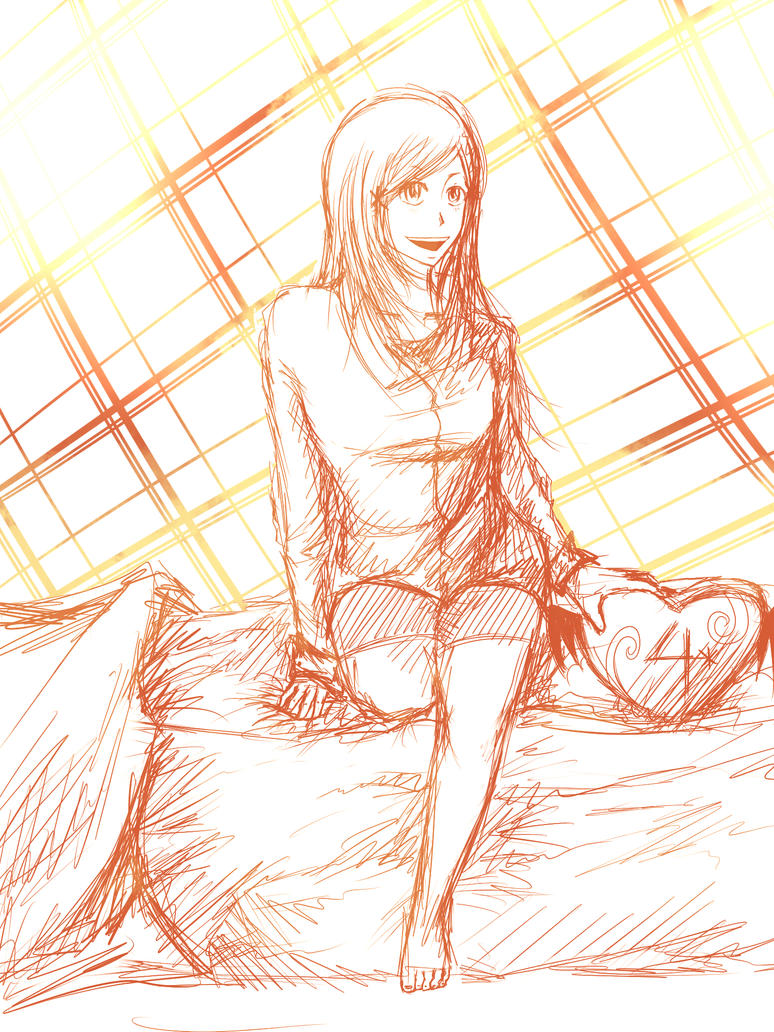 Orihime Sketch by CrispyGray