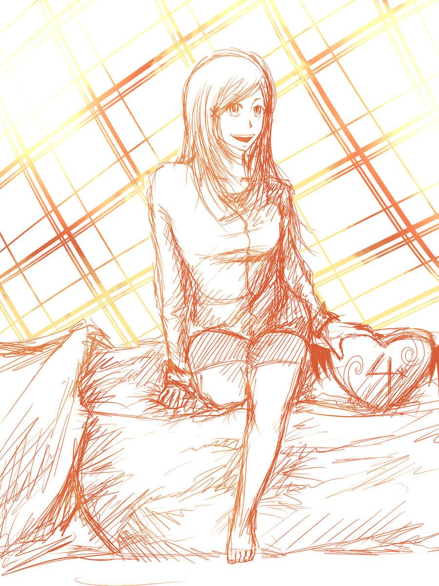 Orihime Sketch by CrispyGray