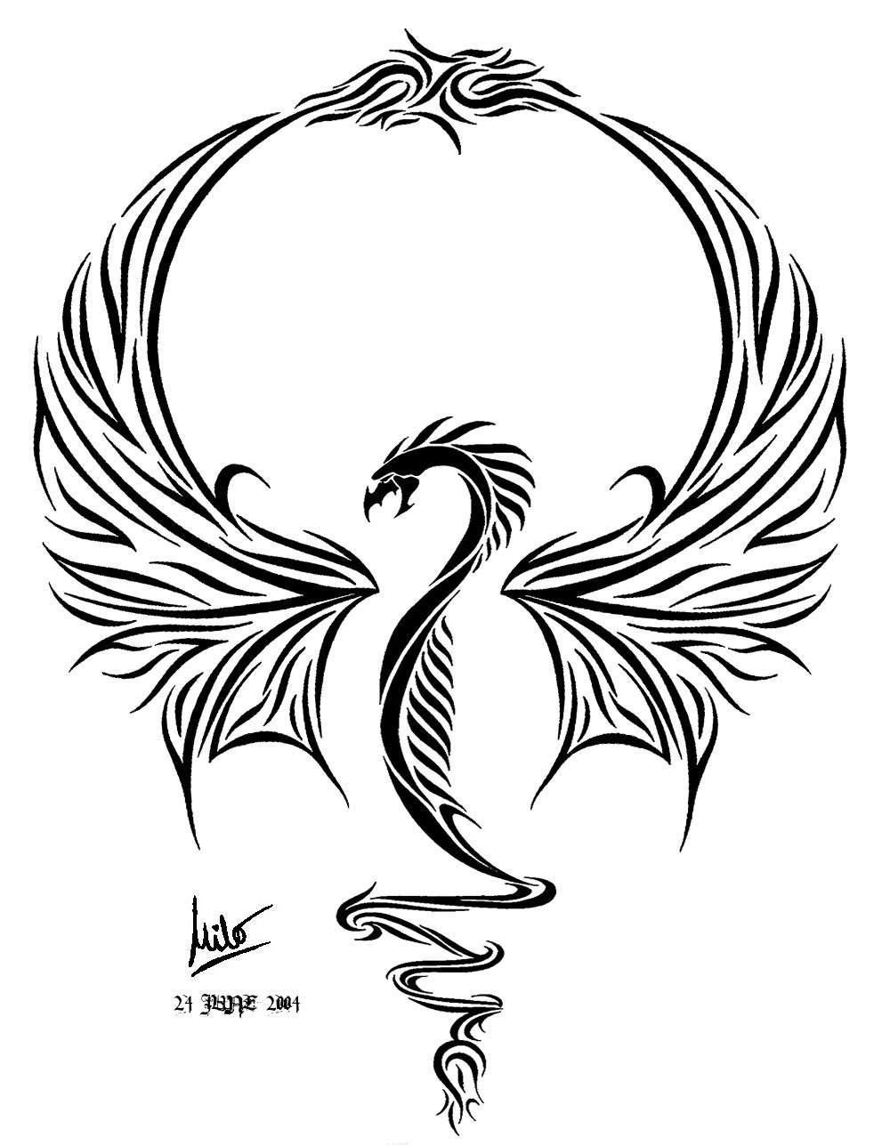 Ultimate dragon tattoo by milo wildcat on deviantart for Dragon tattoo drawings