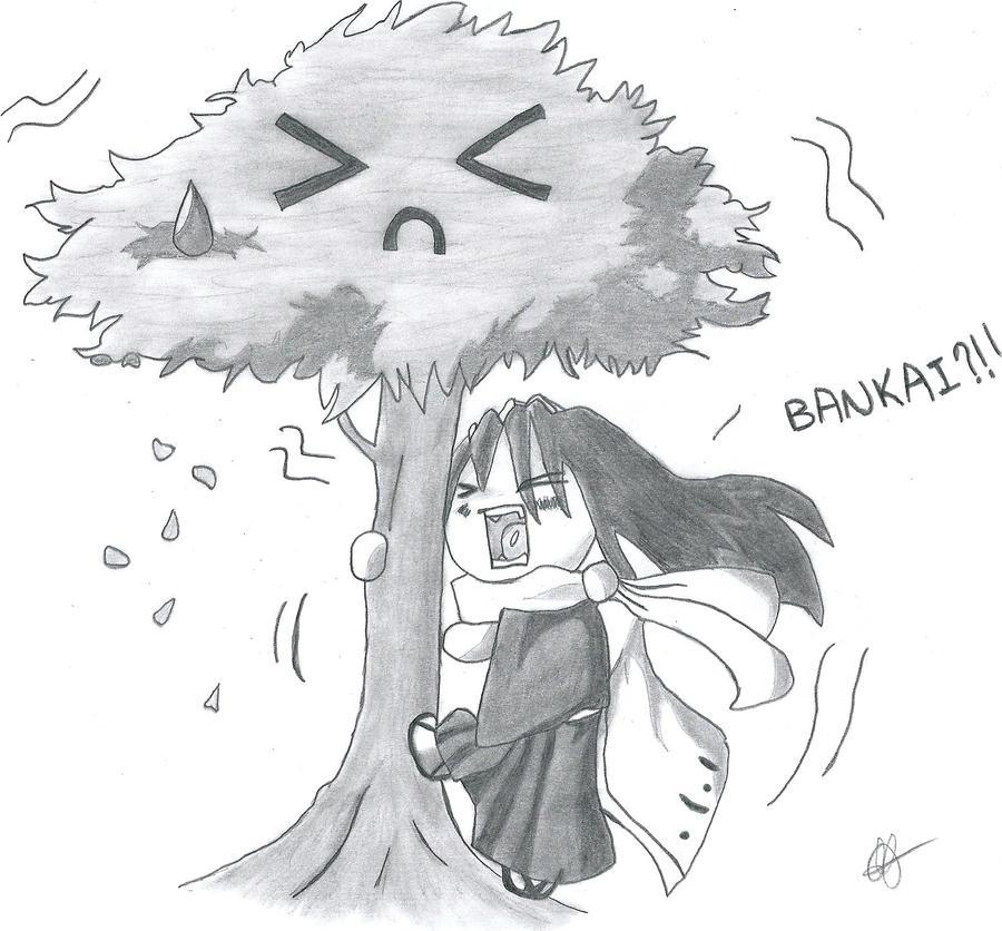 Kuchiki Ayumi Bankai By Tsukineesan On: Bleach:Byakuya Kuchiki Bankai Chibi By Grimmichou On