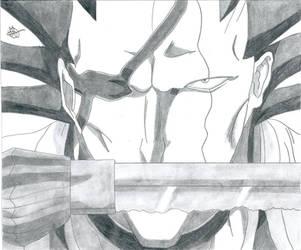 Bleach:Kenpachi Zaraki Killer Face by Grimmichou