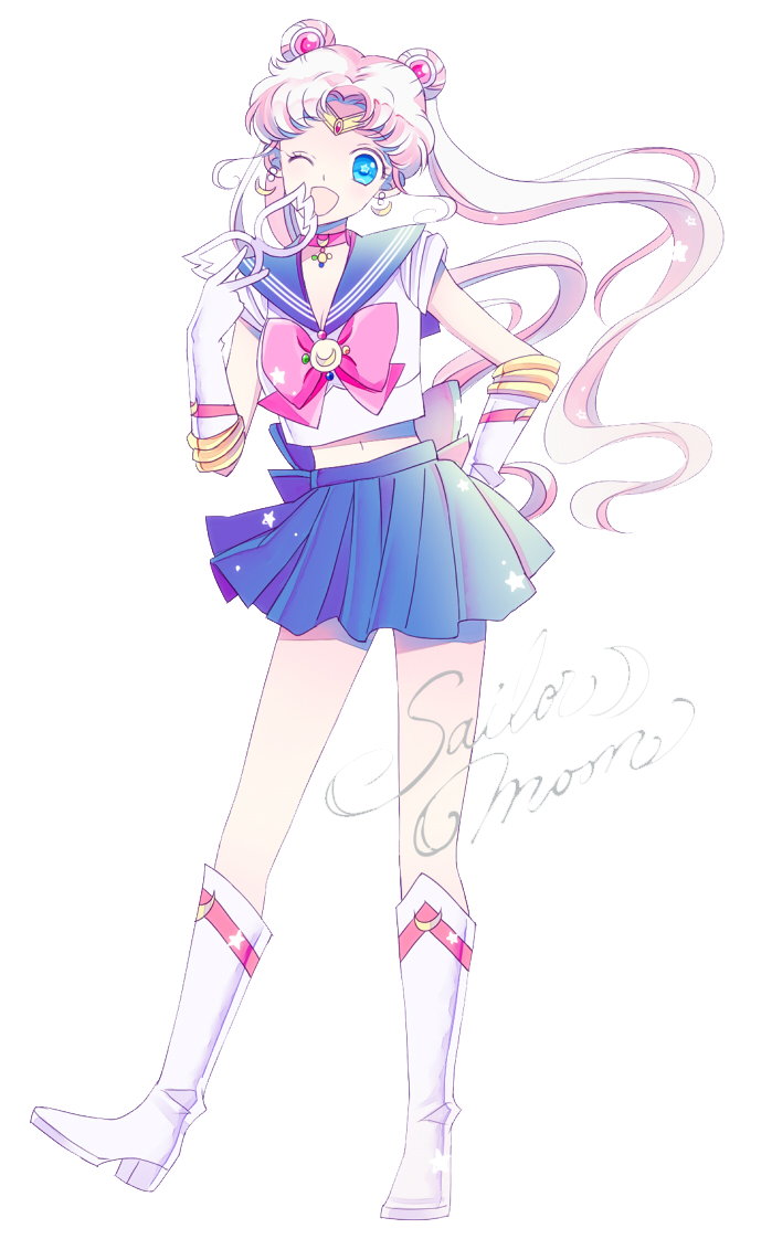 Sailor Moon - Prototype Moon render (png) by orihimeyuuka