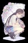 Anime - Random Anime Girl 2 render (png)